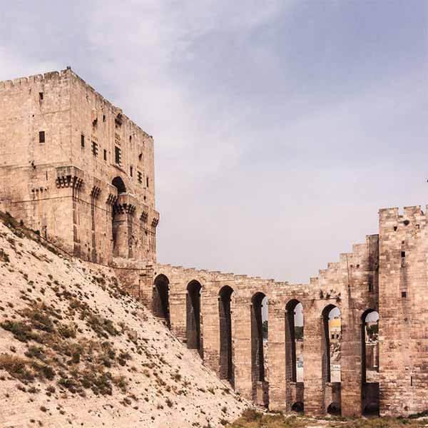 Panorama der Stadt Aleppo in Syrien