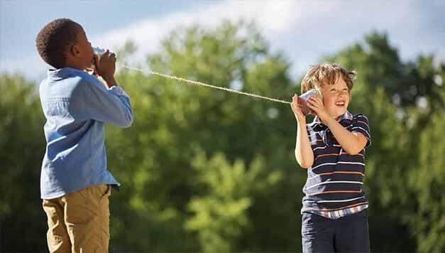 Kinder mit klassischer Kommunikation